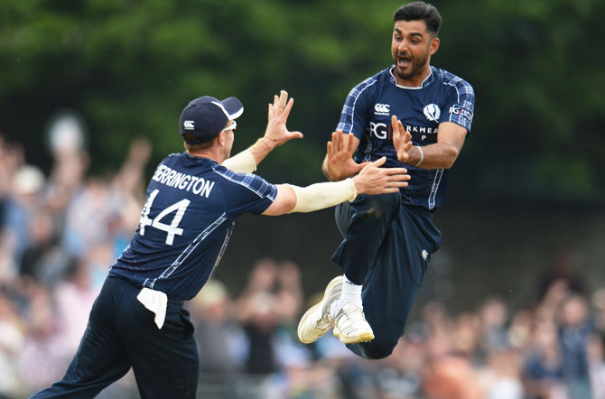 Rediff Cricket - Indian cricket - PHOTOS: How Scotland shocked World No 1 England