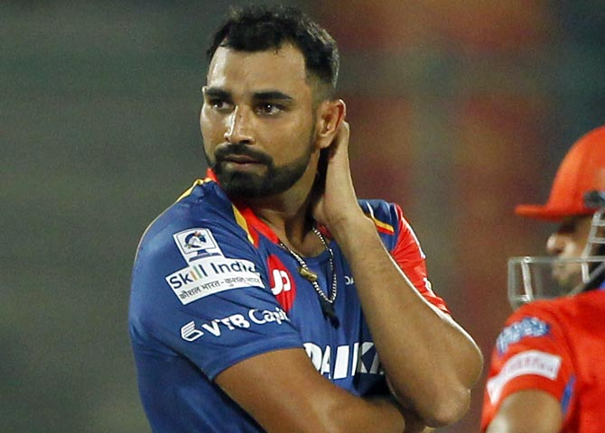 Rediff Sports - Cricket, Indian hockey, Tennis, Football, Chess, Golf - IPL: Shami on sticky wicket...