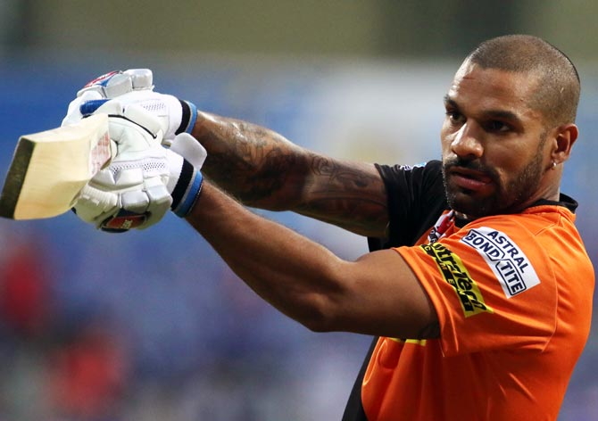 Dhawan could replace Warner as Sunrisers captain - Rediff ...