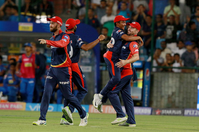 Rediff Cricket - Indian cricket - Delhi Daredevils pinch win over Rajasthan Royals in rain-hit match
