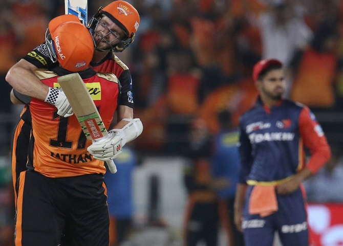 PHOTOS: Sunrisers win by 7 wickets, Daredevils out of IPL