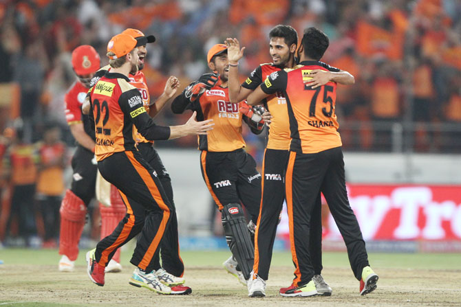 IPL PHOTOS: Bhuvi, Kaul bowl Sunrisers to 5-run win over RCB