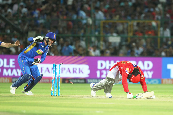 Rediff Cricket - Indian cricket - IPL PHOTOS: Buttler, bowlers keep RR alive, beat KXIP by 15 runs