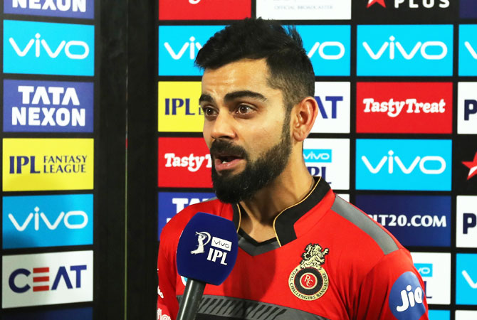 RCB captain Virat Kohli said his team 'deserved to lose'