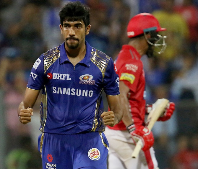 Rediff Cricket - Indian cricket - How Bumrah triggered the collapse of Kings XI