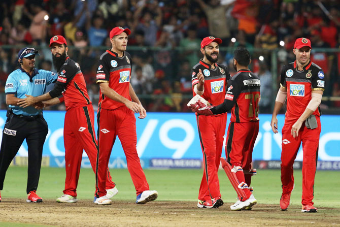 Rediff Cricket - Indian cricket - IPL PHOTOS: ABD, Moeen help RCB stay in hunt for play-offs spot