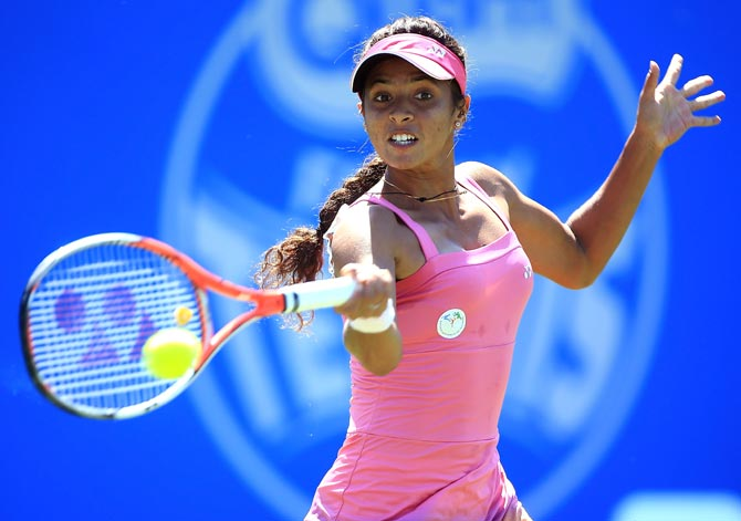 Rediff Sports - Cricket, Indian hockey, Tennis, Football, Chess, Golf - Ankita bows out of French Open qualifiers