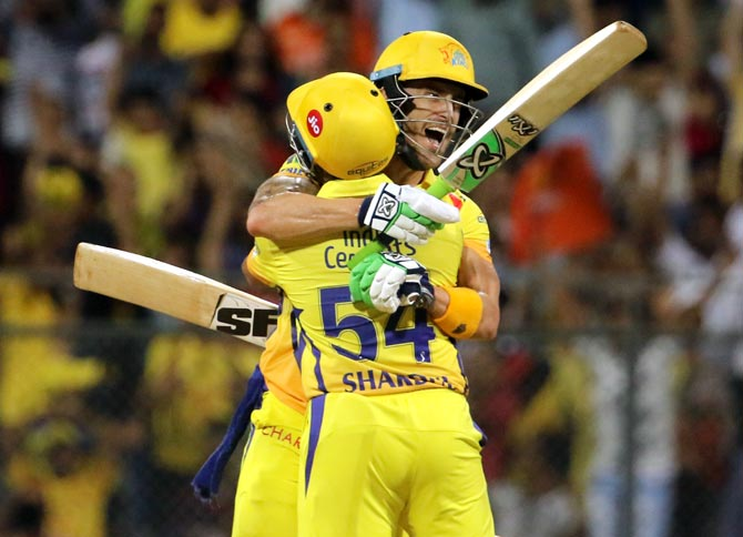 Rediff Cricket - Indian cricket - PHOTOS: CSK pip Sunrisers to make their 7th IPL final