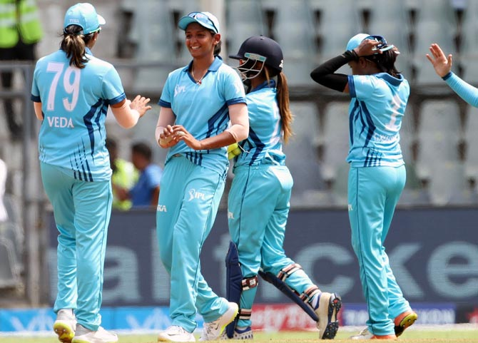 Rediff Cricket - Indian cricket - PIX: Crowds stay away but women's IPL one-off match is a hit