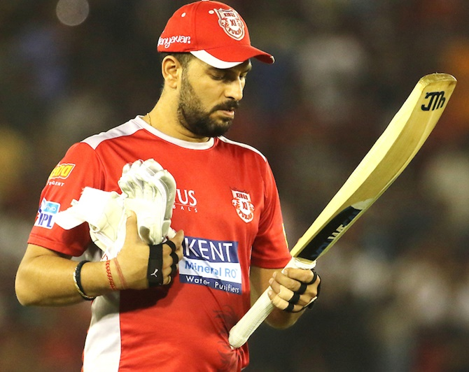 Rediff Cricket - Indian cricket - Is it time for Yuvraj Singh to hang up his bat?