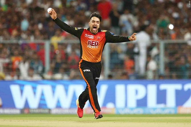 Rediff Sports - Cricket, Indian hockey, Tennis, Football, Chess, Golf - How teenager Rashid Khan demolished the Knight Riders