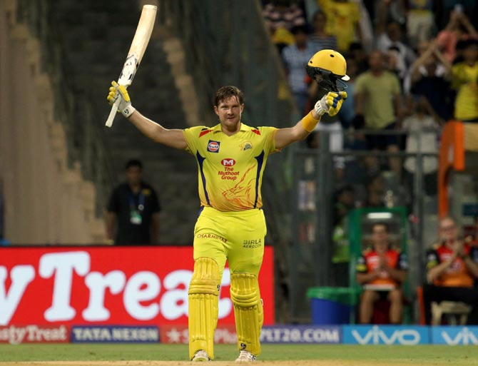 Rediff Cricket - Indian cricket - PHOTOS: Watson's century powers CSK to third IPL title