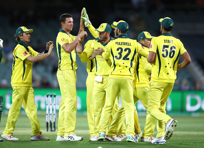 Rediff Sports - Cricket, Indian hockey, Tennis, Football, Chess, Golf - Aus look to find rhythm with ODI series win before India's arrival