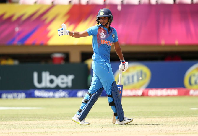 Rediff Sports - Cricket, Indian hockey, Tennis, Football, Chess, Golf - Harmanpreet battled stomach cramps on way to historic ton