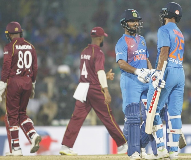 Rediff Sports - Cricket, Indian hockey, Tennis, Football, Chess, Golf - Rohit's 'ruthless' India sweep Windies