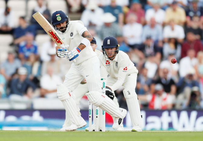 Rediff Sports - Cricket, Indian hockey, Tennis, Football, Chess, Golf - Kohli stays perched atop ICC Test rankings