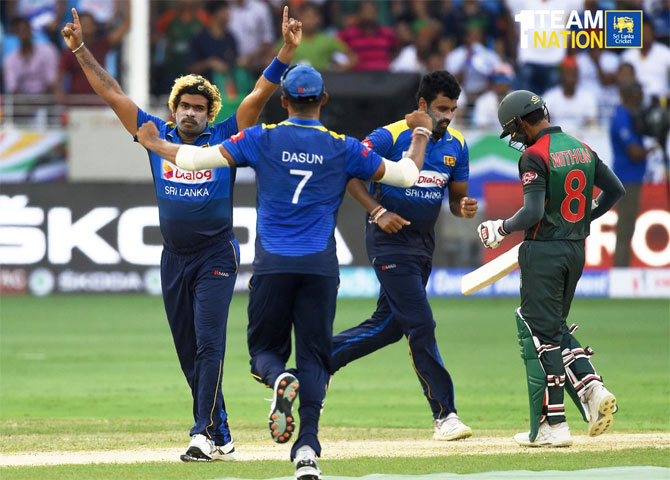 Lasith Malinga took four wickets against Bangladesh on Saturday