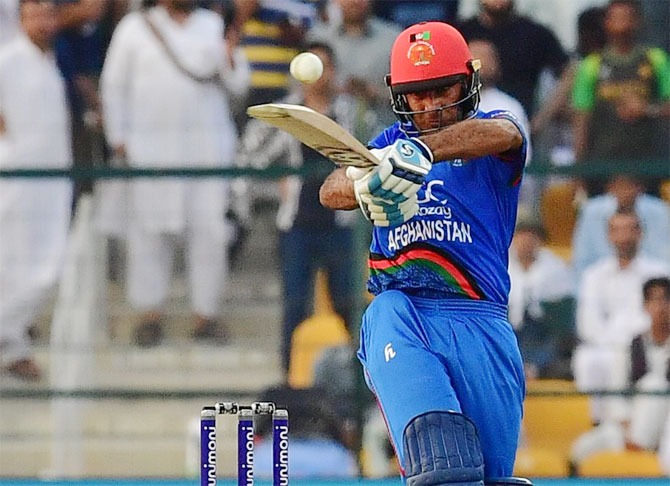 Hashmatullah Shahidi top-scored for Afghanistan with 97 against Pakistan