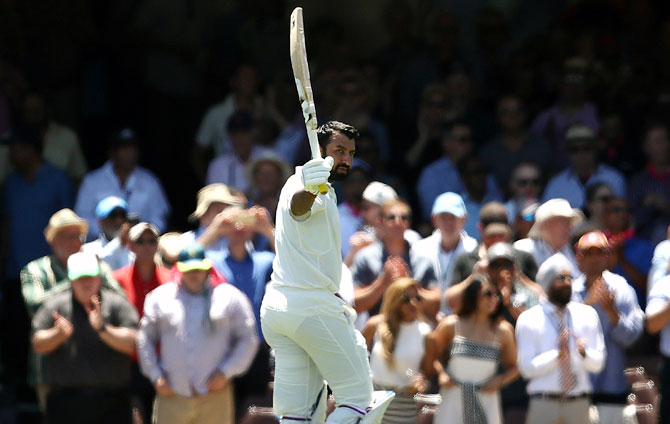 Rediff Sports - Cricket, Indian hockey, Tennis, Football, Chess, Golf - PIX: Pujara, Pant put India in control