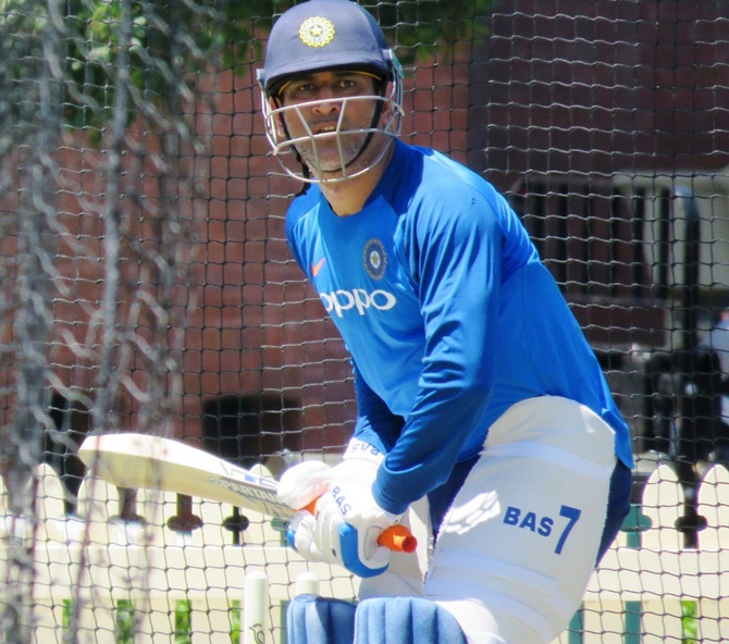 Rediff Sports - Cricket, Indian hockey, Tennis, Football, Chess, Golf - PIX: Focus shifts to ODIs as Dhoni, Dhawan hit the nets at SCG