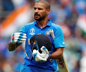 Dhawan picks up bat for 'Bottle Cap Challenge'