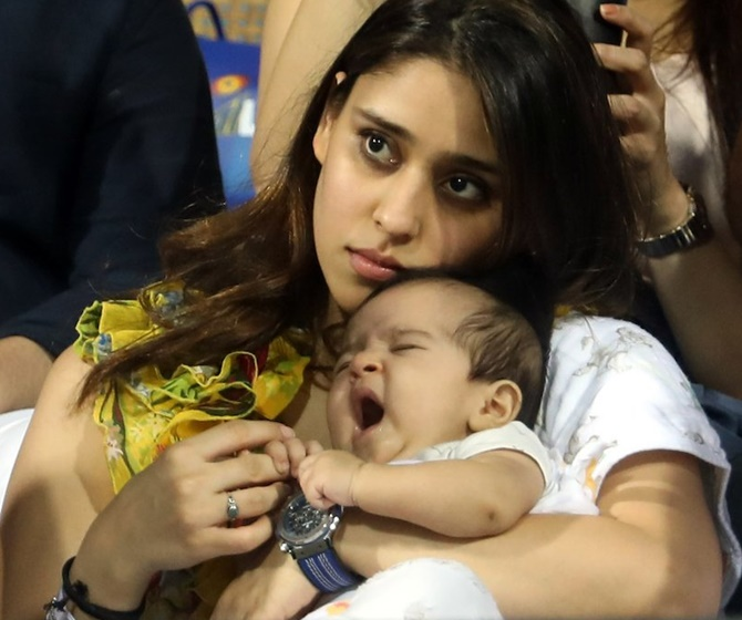 Rohit's daughter Samaira's stadium debut