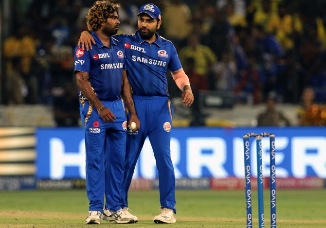 Image result for rohit and malinga