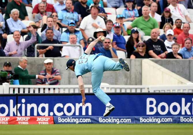 How Stokes Reacted To His Sensational One Handed Catch