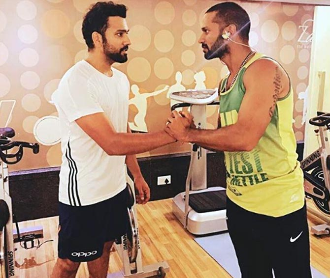 Dhawan talks to himself? Check out Rohit's video