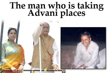 The man who is taking Advani places