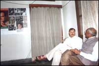 Congress Party media official Mr.Shakil Ahamad discussing with other memeber.