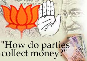 How do parties collect money?