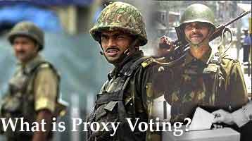 What is proxy voting?