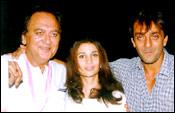 Sunil Dutt, Rhea Pillai, Sanjay Dutt
