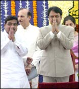 R R Patil (left) and Vilasrao Deshmukh