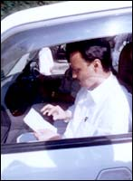 Ajit Pawar finds time to go through a petition