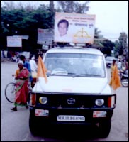 A Sena-BJP campaign car