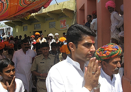 Sachin Pilot while campaign in Naseerabad, Ajmer, Rajasthan