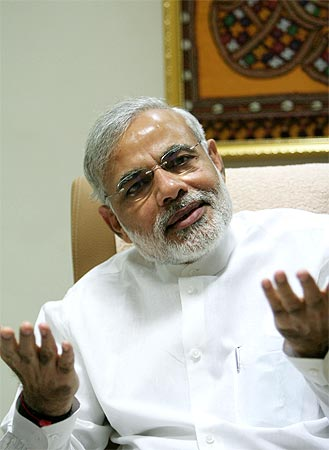 'The biggest shocks to the economy have happened in Dr Singh's tenure' :  Narendra Modi, Gujarat Chief Minister
