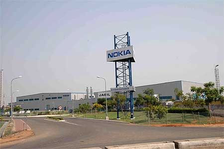 The Nokia factory near Sriperumbudur