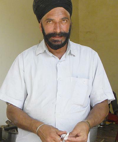 Gurmeet Singh at his tea stall