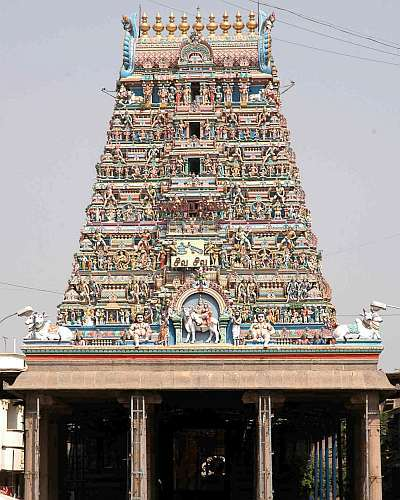 The Kapaleeswara temple in Mylapore, Chennai South