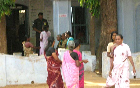Women in large numbers turned up in Nalumavadi village