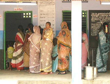 High women voters turn-out in Shunmugapuram village