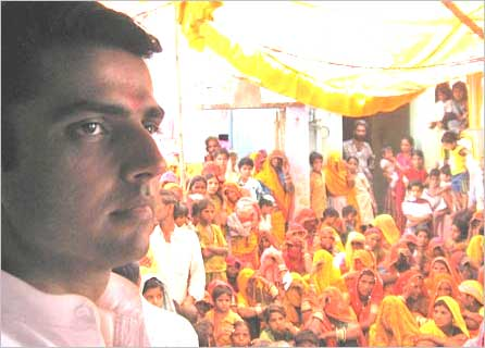 Sachin Pilot meets voters in Ajmer