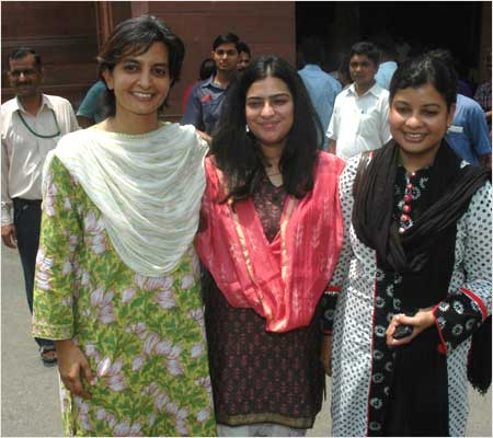 Jyoti Mirdha, Shruti Choudhary and Mausam Noor, three young first-time MPs