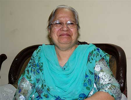 Gobind Kaur at her south Kolkata home