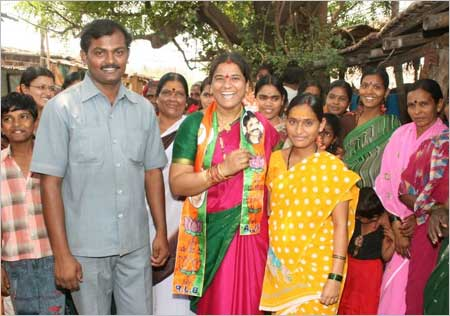 J Shantha, 35, is the lone woman MP from Karnataka