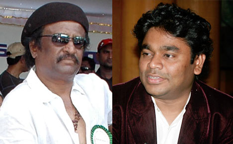 Actor Rajnikanth and composer AR Rahman