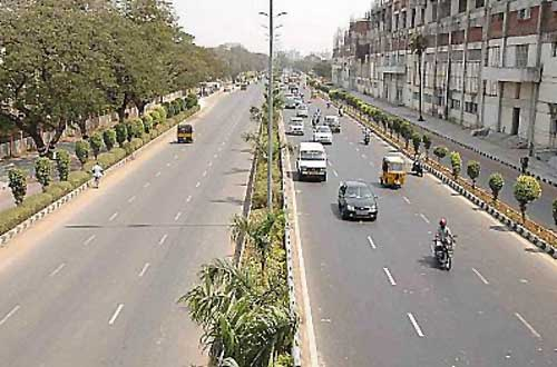A view of  the IT highway in Chennai